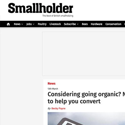 Smallholder - Considering going organic?