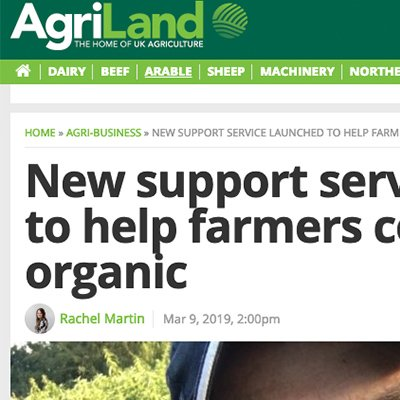 Agriland - new organic support service launched
