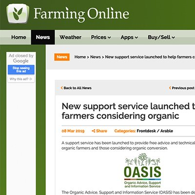 Farming Online - New support service