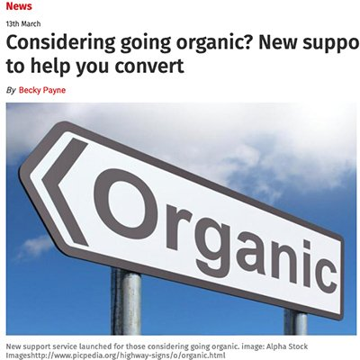 Somerset County Gazette - Should you be going organic?
