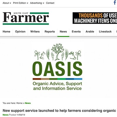 South East Farmer - OASIS launched