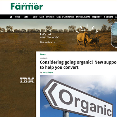 South West Farmer - Considering going organic?